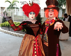 Let The Madd Hatter Alice And Queen Of Hearts Characters Engage Your Guests In A Magical Tea Party Fun Time